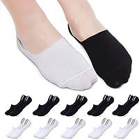 YOUCHAN Calcetines Hombre Mujer 10 Pares Invisibles Cortos Tobilleros Antideslizante Calcetines Deportivo