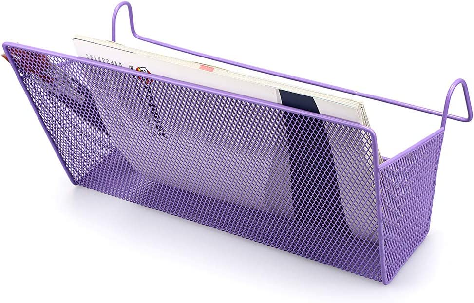 SUMNACON 1Pc Bedside Hanging Storage Baskets Dormitory Bed Organiser Caddy Desktop Storage Rack for Home Office School Dorm Room Bunk Bed Purple