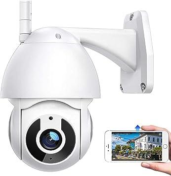 Opinión sobre AINSS Cámara de vigilancia para Exteriores, 1080P HD Cámara WiFi IP Impermeable/visión Nocturna por Infrarrojos/PTZ 360 ° / Seguimiento de Movimiento/Alarma de aplicación (Cámara+Tarjeta TF de 64G)