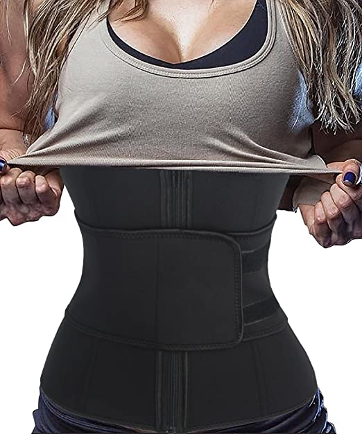 36b0b5f81e Image Unavailable. Image not available for. Color  FLORATA Neoprene  Shapewear Sauna Suit Waist Trimmer Belt Waist Training Corset ...