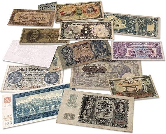 IMPACTO COLECCIONABLES Segunda Guerra Mundial - 14 Billetes Originales 1939-1945: Amazon.es: Juguetes y juegos