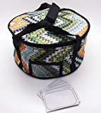 Insulated Round Casserole Carrier with ID Window by Savvy Culinaire