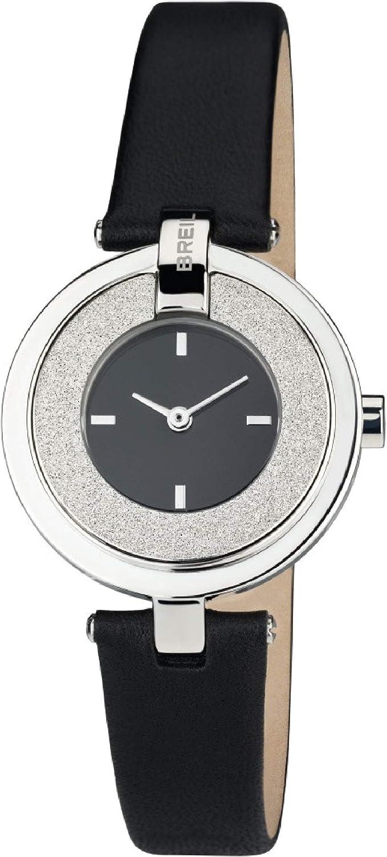 Reloj BREIL Mujer BREILOGY Esfera Negro e Correa in Piel de Becerro Negro, Movimiento Solo Tiempo - 2H Cuarzo