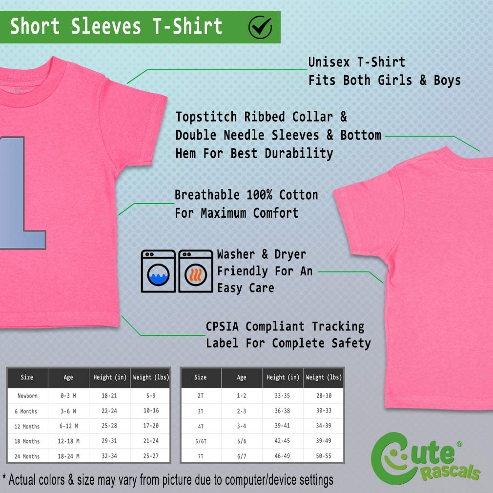Custom Baby /& Toddler T-Shirt Number 1 Simple Cotton Boy Girl Clothes