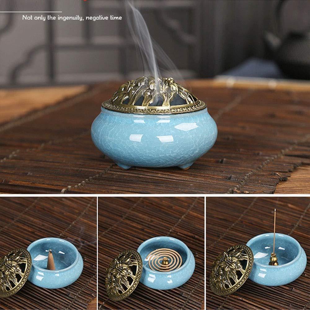 Cone//Stick//Coil Incense Ash Catcher Bowl Fambe Grey Haihuic Ceramic Incense Burner Chinese Porcelain Censer