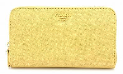 0234effe412e [プラダ] PRADA サフィアーノ メタル ラウンドファスナー長財布 型押しレザー GINESTRA 黄色 イエロー