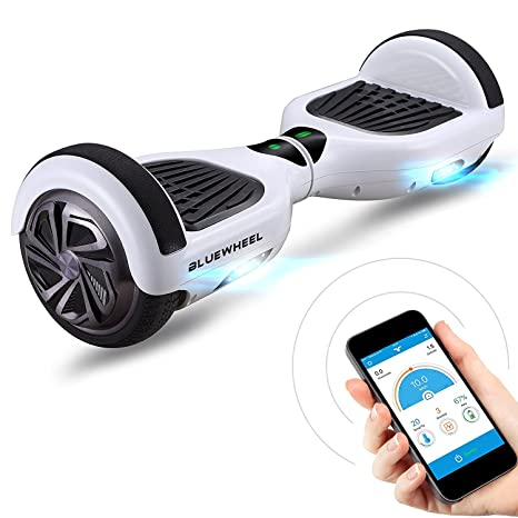 Bluewheel HX310s Patin eléctrico con Sistema de Seguridad para niños a través de App, Altavoz Bluetooth y Luces LED, 2 Motores de 700W, Patinete ...