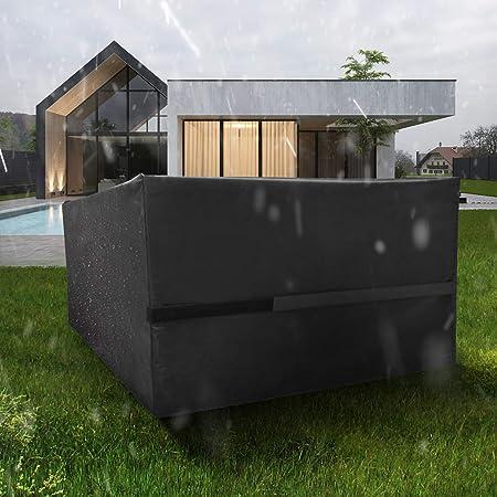FlyLemon Fundas Muebles Jardin, Tela 420D Impermeable Anti-UV Patio Protectores con DiezTamaños. (242 * 162 * 100 cm)