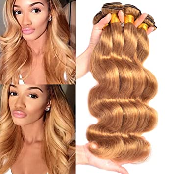 Black Rose Hair Wholesale Products Brazilian Body Wave Honey Blonde Virgin  Human Hair Weave