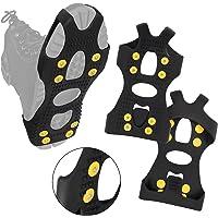 ALPIDEX Crampons antidérapants avec 8 Crampons pour Chaussures Crampons à Glace en différentes Tailles