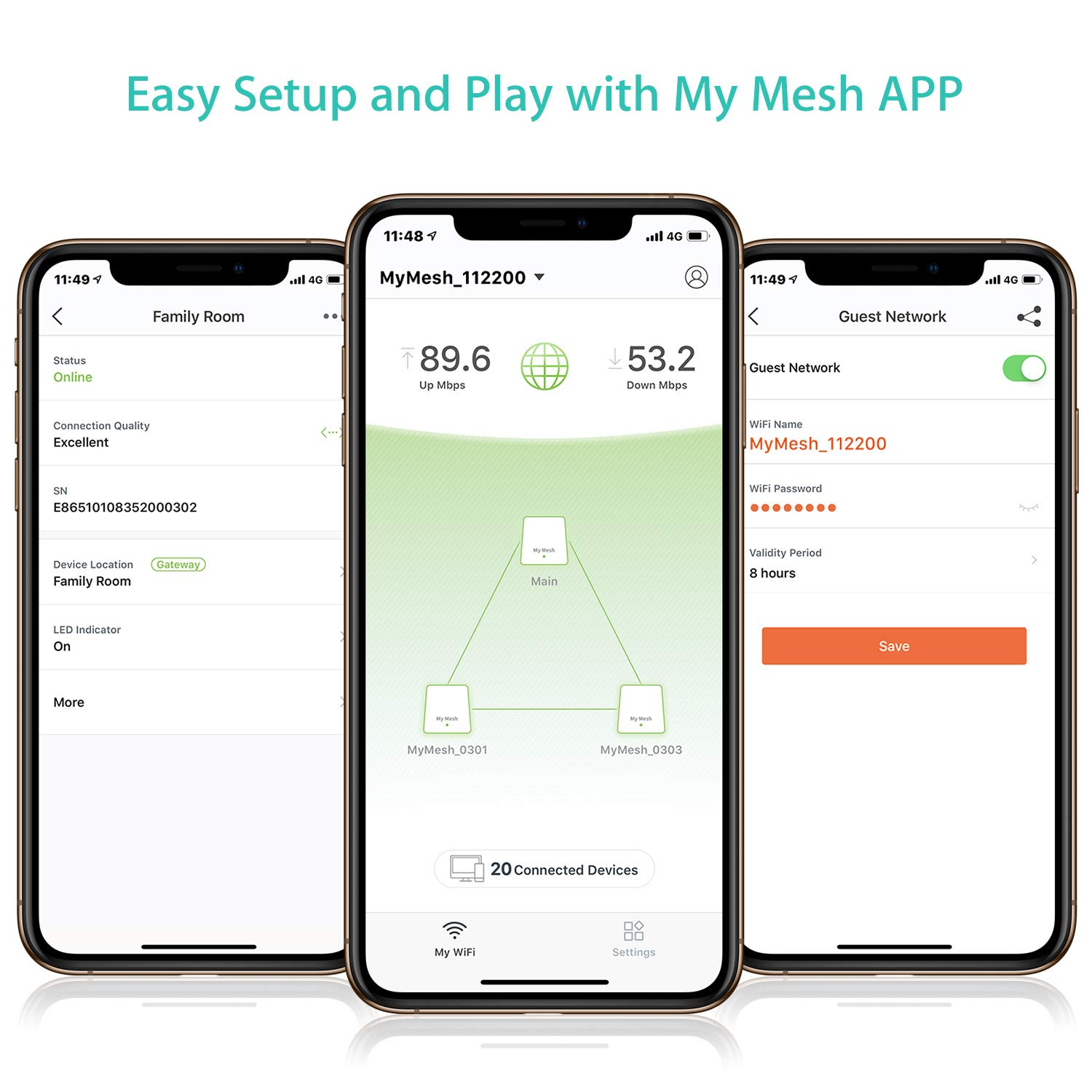 Meshforce Whole Home Mesh WiFi System (3 Pack), Dual Band AC1200 Router Replacement for Seamless and High Performance Wireless Coverage up to 6+ Bedrooms by Meshforce (Image #6)