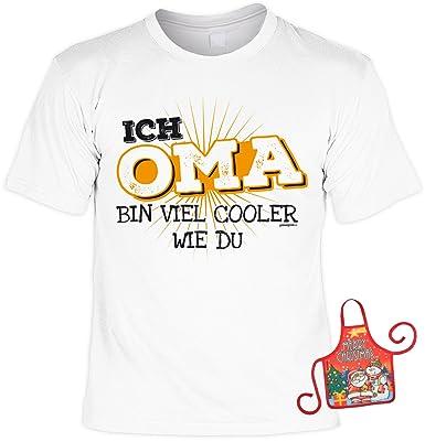 Unbekannt Oma Weihnachtsgeschenk Set Lustiges Spruche T Shirt