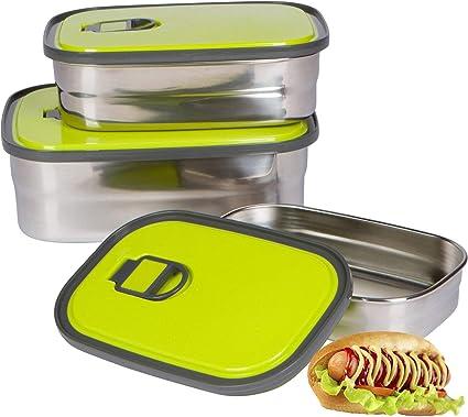 Edelstahl Lunchbox Lebensmittel-Behälter Lunch-Container Bento Boxen Brotdose