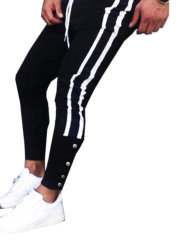zakus Herren Jogging Hosen Jogginghose mit Streifen Pants Slim Fit Freitzeithose Trainingshose Joggerhose Jogger Jogging-Hose Fitness Sport