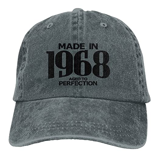 ad1f8016a Aged to Perfection 1968 Hipster Unisex Baseball Cap with Adjustable Closure  Unique Printed Gift for Men