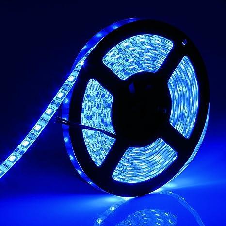 Amazon led strip lights waterproof 164 ft led light tape led strip lights waterproof 164 ft led light tape blue 300 leds flexible led aloadofball Images