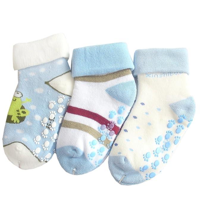 JHosiery Bebés niño calcetines de toalla sin costuras (12-24M/19-22