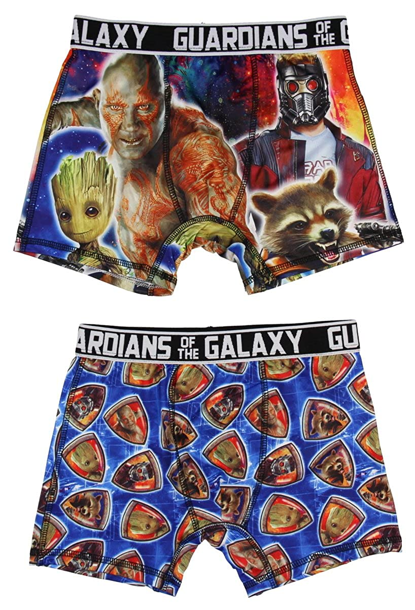 Marvel Guardians of The Galaxy Characters 2 Pack Boys Boxer Briefs Underwear Bioworld