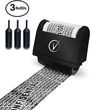 Identity Theft Protection Roller Stamp Protect Your ID Privacy Confidential Data
