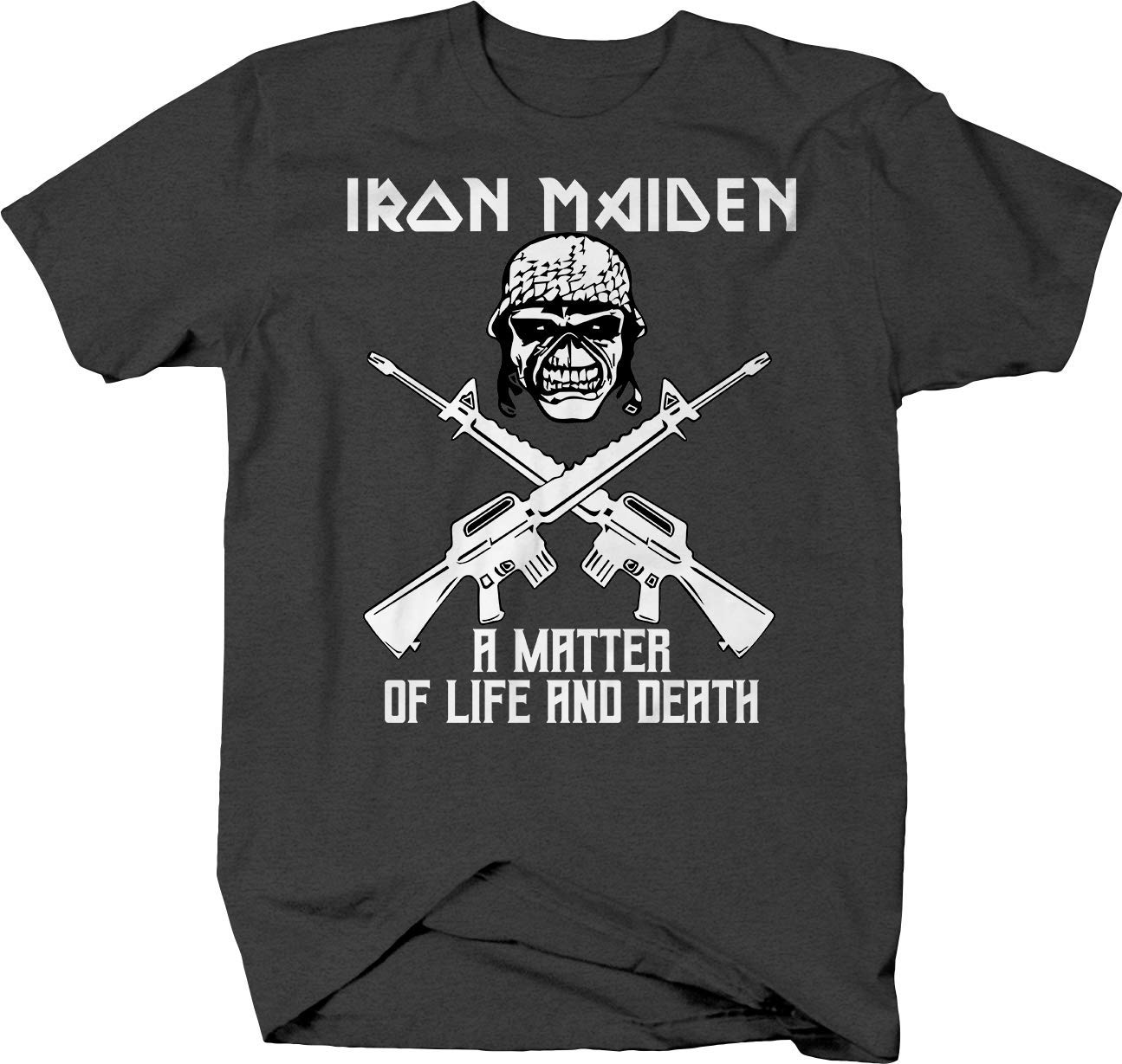 Iron Maiden Matter Life Death Solider Military Crossed Rifles T-Shirt