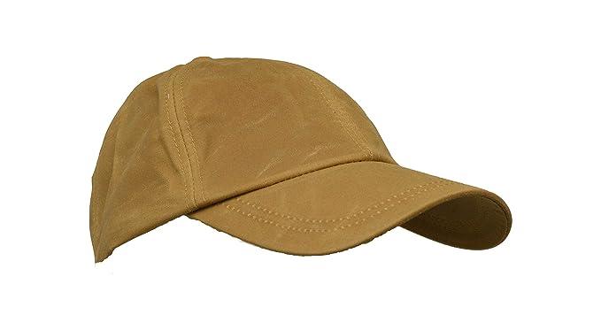 932db9bab1b Walker and Hawkes Men s Wax Baseball Cap Waxed Cotton One-Size Beige ...