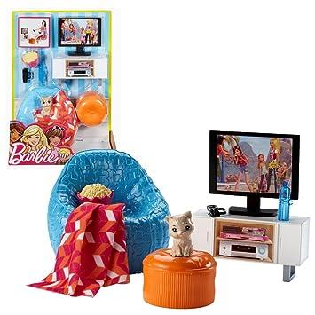 Fernseher, Sessel mit Zubehör | Barbie | Mattel DVX46 | Möbel ...