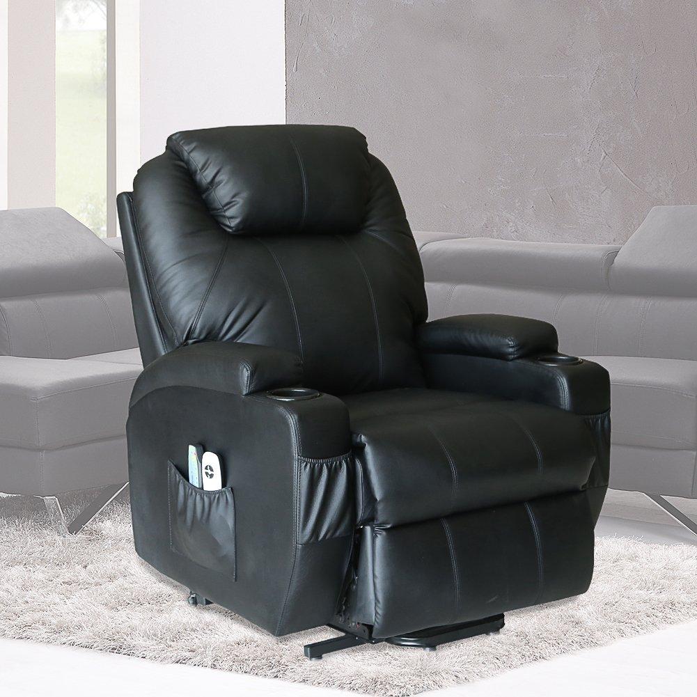U Max Massage Chair Power Lift Recliner Wall Hugger Pu