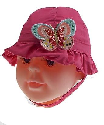 1 bob - chapeau - bébé - fille - papillon - fuchsia ou rose - taille ... b7a9c9edaea