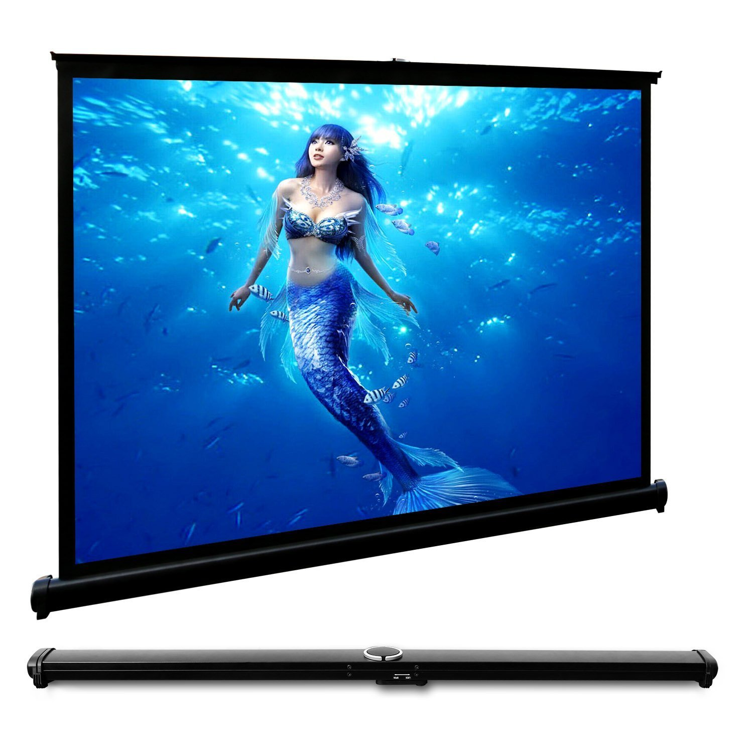 CAIWEI 50-inch Widescreen Projector Screen Portable Outdoor Projection Screen 4:3 Aspect Ratio Easy Installation Manual Desktop Screen Suitable for Home Theater Business Games Party by CAIWEI