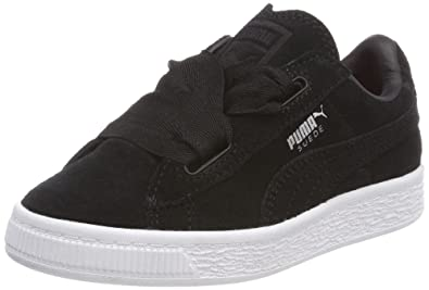 low cost 37fba 7c451 Amazon.com | PUMA Girl's Suede Heart Valentine Trainers 0 ...
