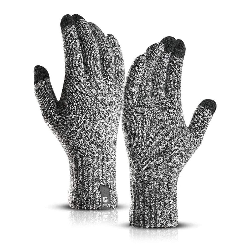 DINBGUCHI 1 Paar Winter Handschuhe Stricken Handschuh Anti-Rutsch-Touchscreen Handschuhe Wolle Magie warme Handschuhe fü r Frauen Mä nner