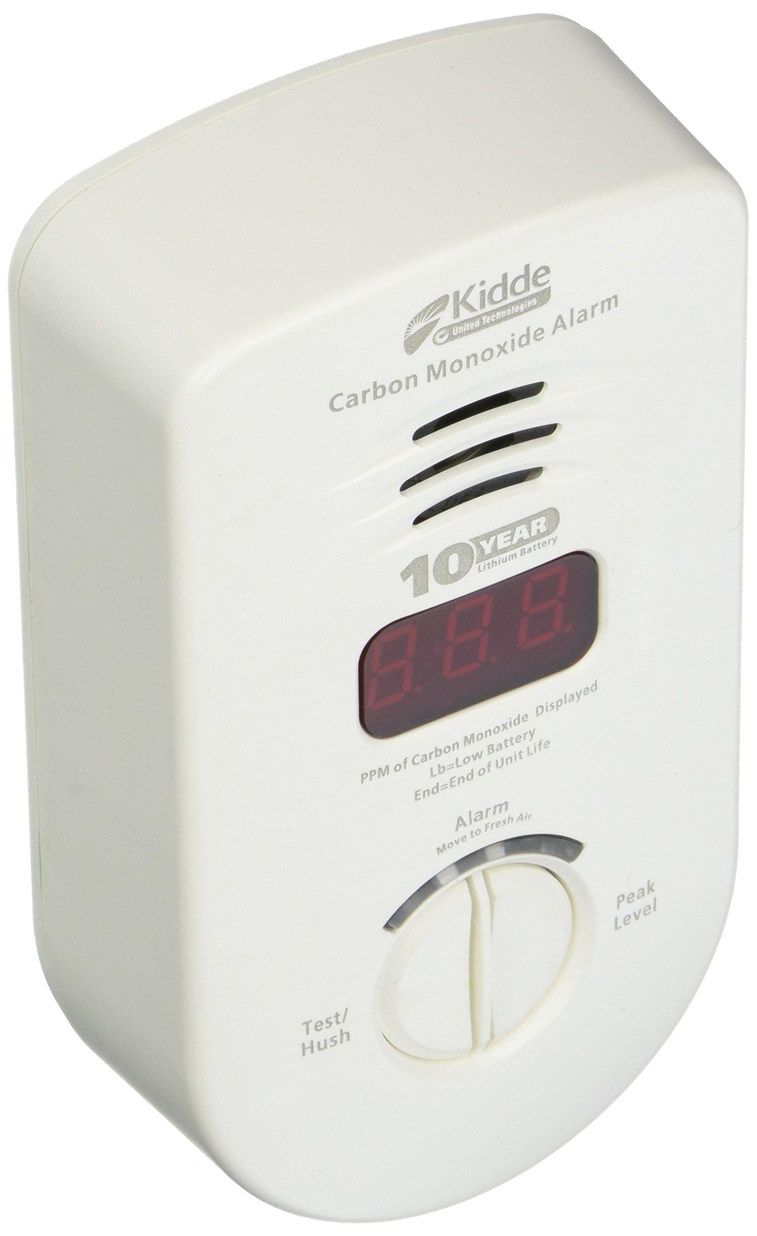 KIDDE 21026350 Plug In Carbon Monoxide Alarm with Sealed Lithium Battery Back Up