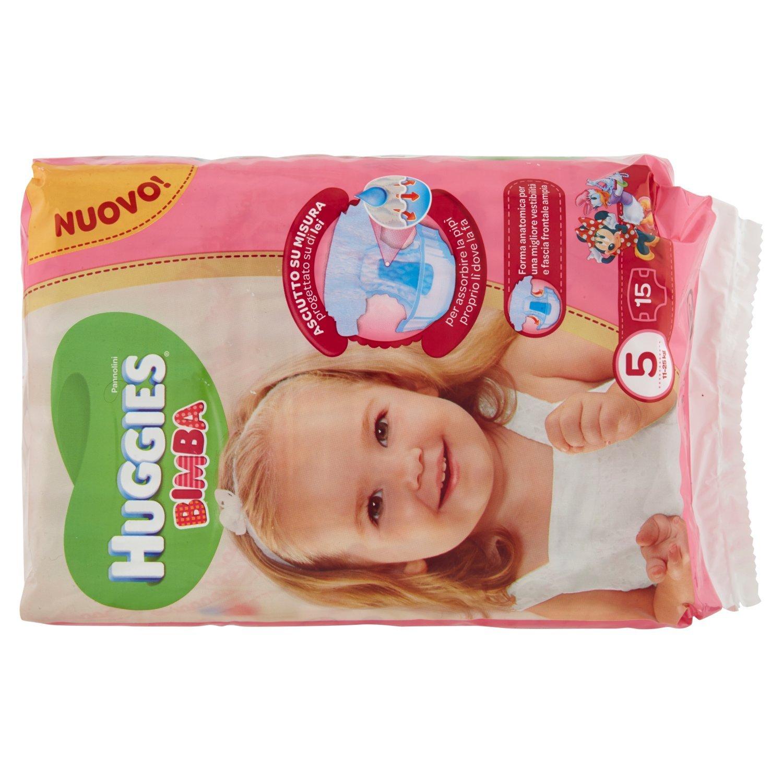 Huggies - Bimba - Pañales - Talla 5 (11-25 kg) - 15 pañales: Amazon.es: Salud y cuidado personal