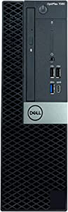 Dell OptiPlex 7060 SFF Desktop Computer, Intel 8th Gen Core i7-8700 3.2GHz (Up to 4.60GHz) 6-Core CPU, 16GB DDR4-2666MHz Memory, 512GB NVMe SSD, Windows 10 Pro