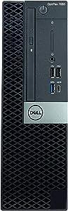 Dell OptiPlex 7060 SFF Desktop Computer, Intel 8th Gen Core i7-8700 3.2GHz (Up to 4.60GHz) 6-Core CPU, 16GB DDR4-2666MHz Memory, 512GB NVMe SSD, Windows 10 Pro
