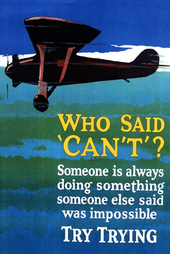 Who Saidできない – Try Trying to Fly 36 x 54 Giclee Print LANT-9830-36x54 36 x 54 Giclee Print  B01MG3PHOL