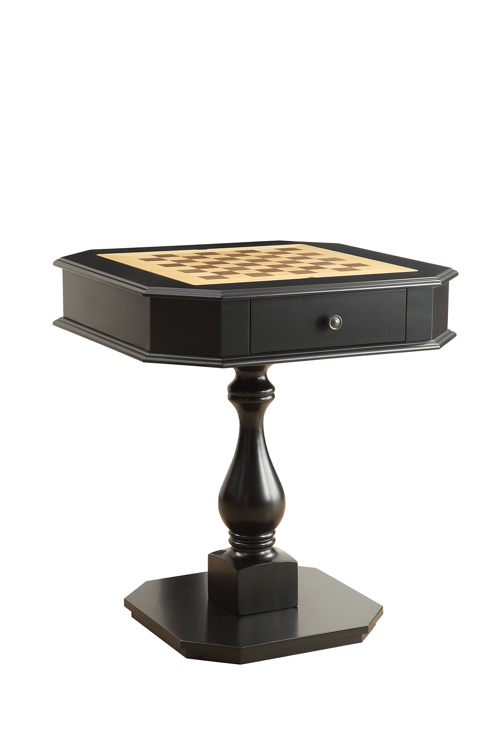 Acme Furniture Acme 82846 Bishop Game Table, Black, One Size by Acme Furniture