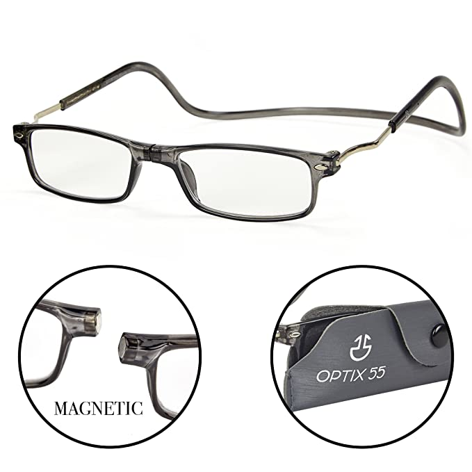 94df1091ab Magnetic Reading Glasses - Front Connect Adjustable Readers with Expandable  Temples