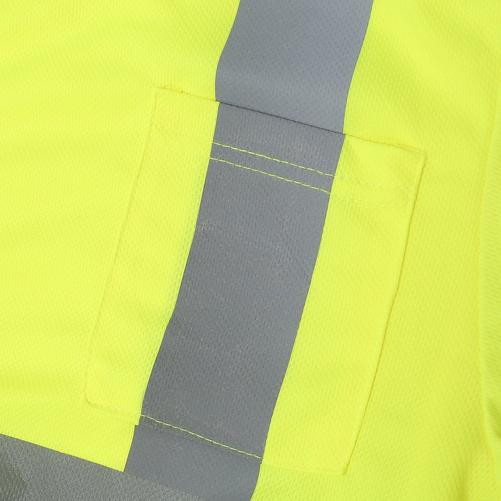 A-SAFETY High Reflective Adult Shirts Fast Drying Working T-shirts,Yellow Large