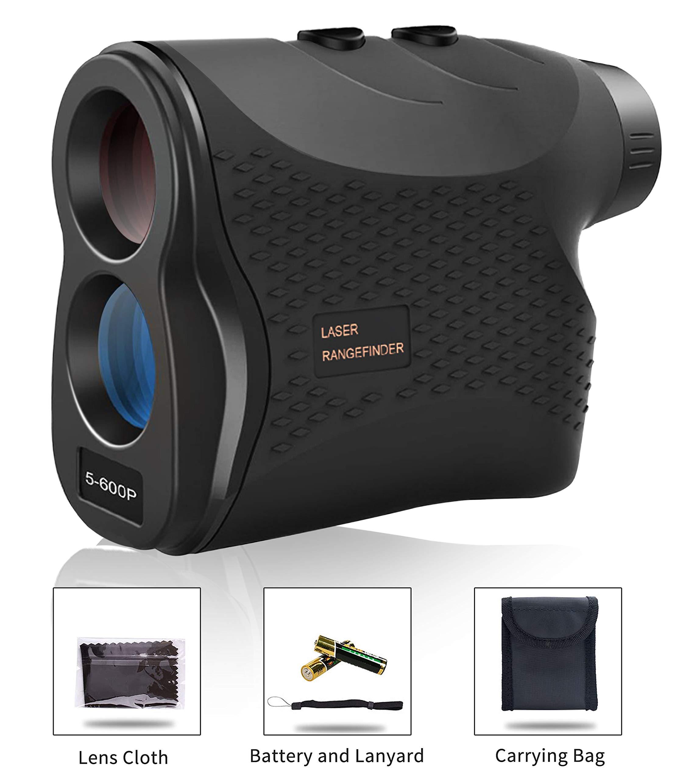 Affyrex 600Pro Golf Laser Rangefinder, 650 Yard Range with Pulse Vibration, Distance and Speed Measurement, 6X Magnification and Naked Eye Observation (Black) by Affyrex
