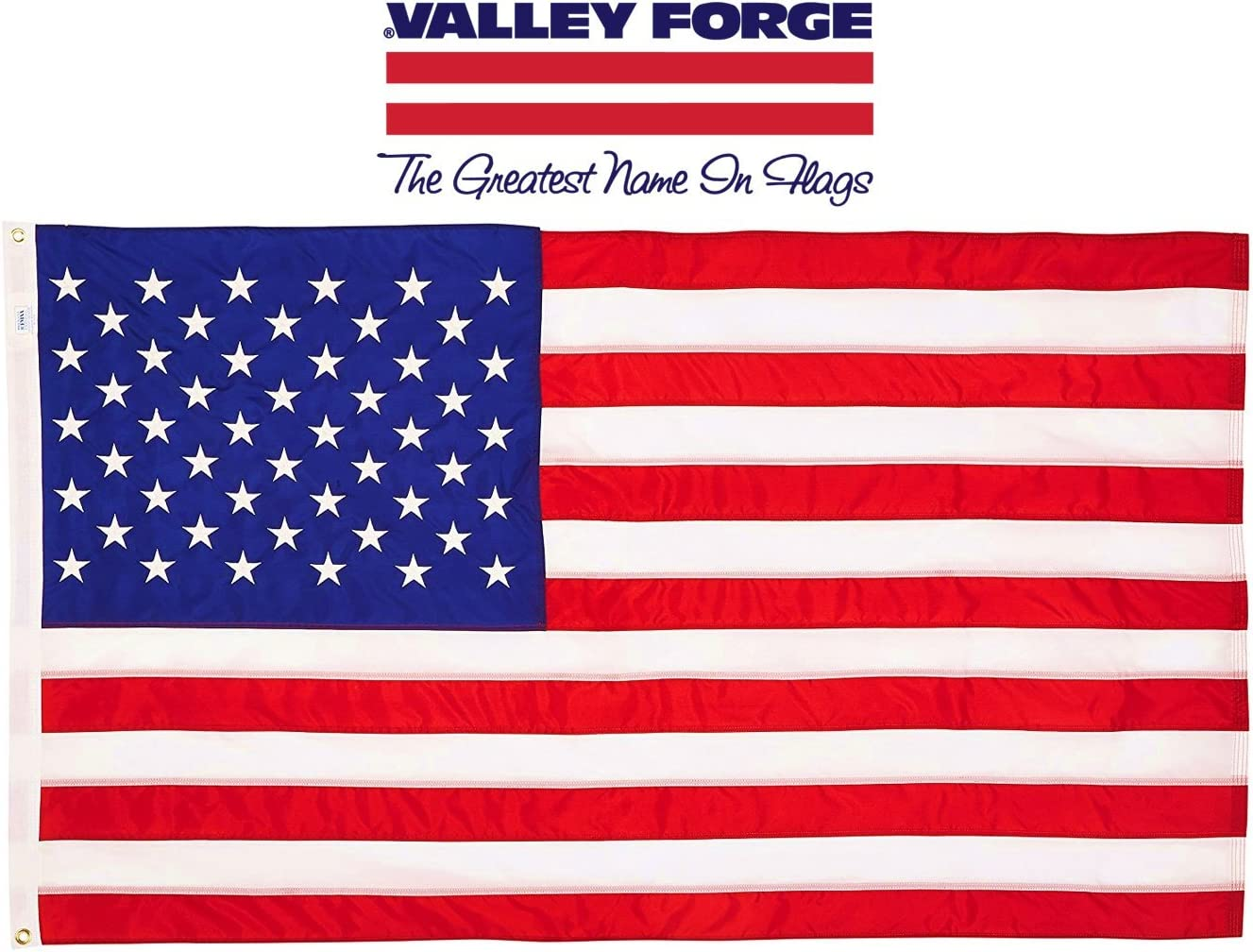 Valley Forge USB4 American Flag, 4' x 6', Multi Color