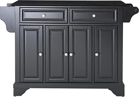 Amazon Com Crosley Furniture Lafayette Full Size Kitchen Island With Solid Black Granite Top Kitchen Islands Carts