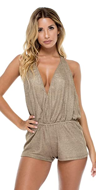 046ad569ccad1 Luli Fama Womens Compai Deep V Reversible Crossed Back One-Piece:  Amazon.ca: Clothing & Accessories