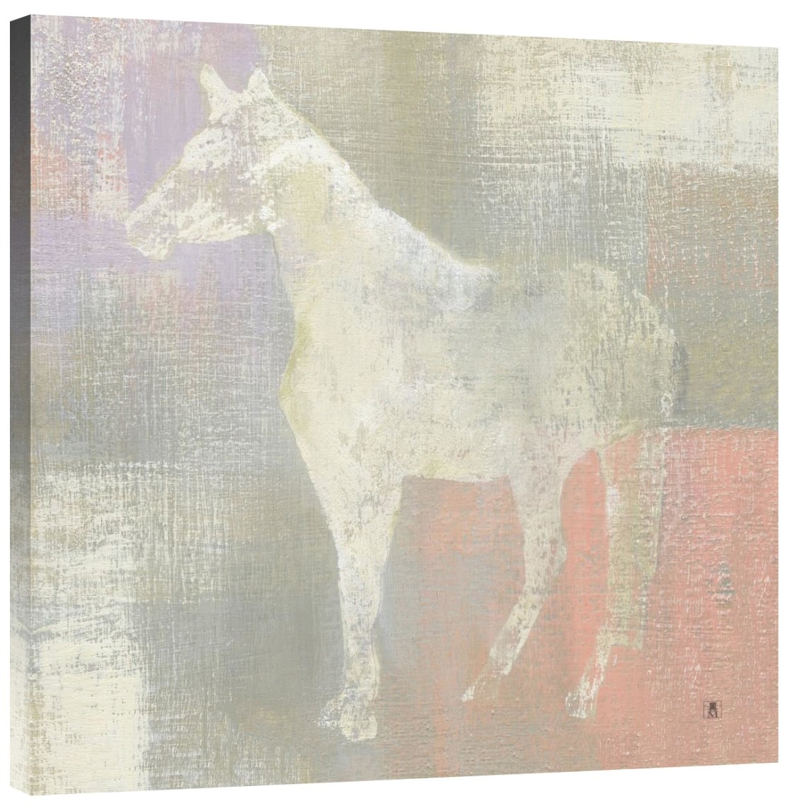 Global Gallery Studio Mousseau Dusk Pony Giclee Stretched Canvas Artwork 30 x 30