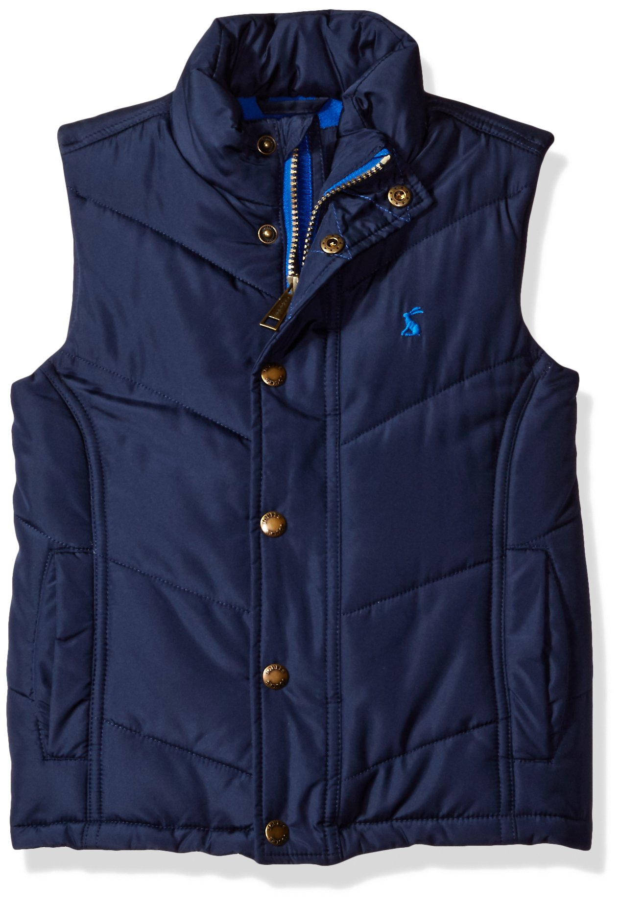 Joules Boys' Little Matchday Padded Gilet, French Navy, 2