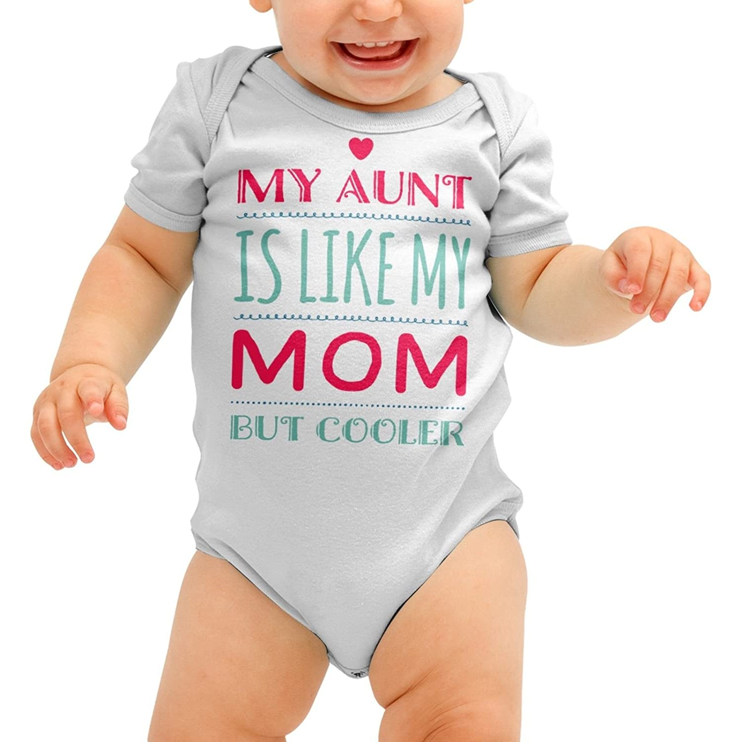 Funny Baby Grow, My Aunt is Like My Mom But Cooler, Auntie Gift for Baby Shower, Romper Suit, Babygrow, 0-3 Months, 3-6, 6-12, 12-18, All Colours