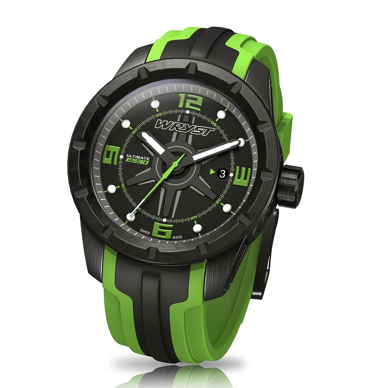 Schwarz und GrÜn Schweizer Sport Armbanduhr wryst Ultimate ES30 FÜr extreme sports