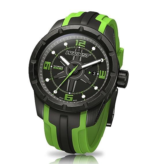 Color negro y verde relojes suizos reloj final Wryst ES30 para los deportes extremos