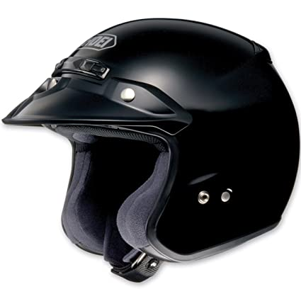 Shoei RJ Platinum-R Black Open Face Helmet, L