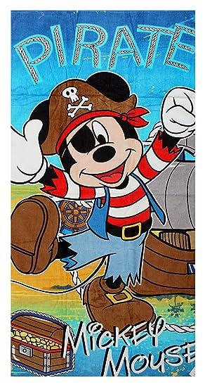 Get Wivvit Niños Disney Mickey Mouse Goofy Pirata Toalla Playa Baño Piscina Algodón 140cm x 70cm - Mickey Pirata, Mickey Pirate: Amazon.es: Hogar